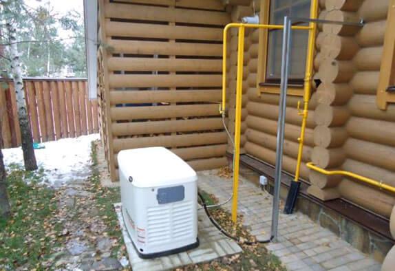 Газовый генератор в работе