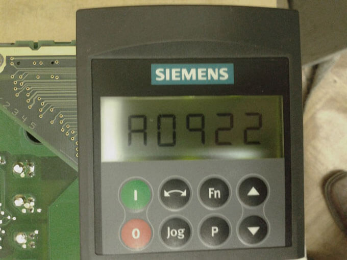 Анализ ошибок частотника Siemens