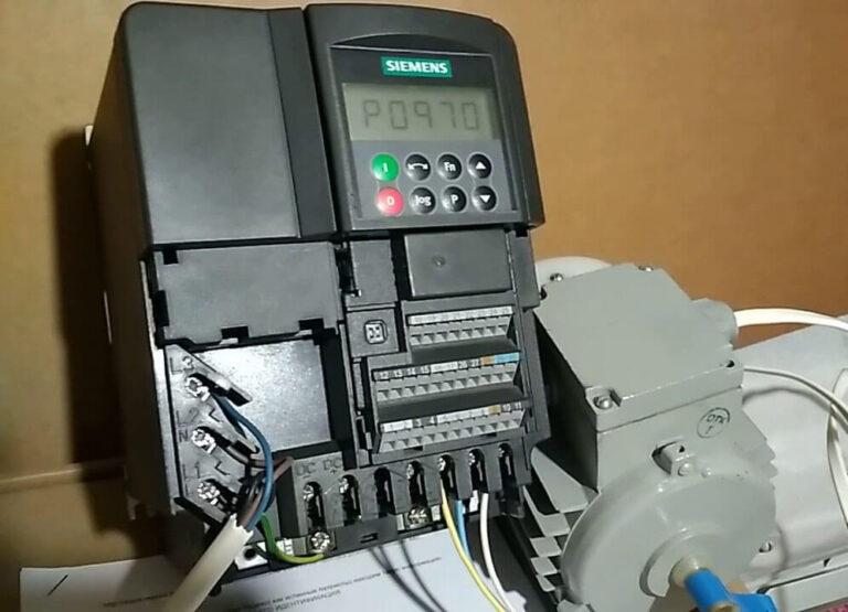 Монтаж частотного преобразователя Siemens