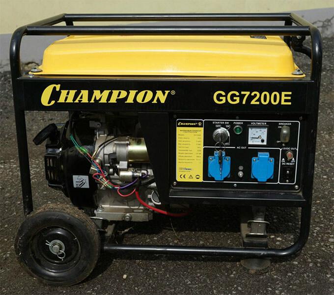 Бензогенератор Champion GG7200E