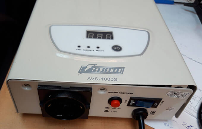 Powerman AVS 1000S сзади