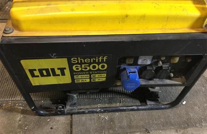 Сдача бензогенератора Colt Sheriff 6500