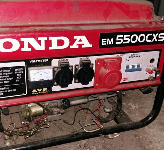 Сдача в ремонт бензогенератора Honda