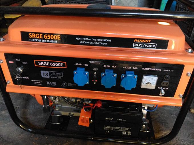 Бензогенератор Patriot SRGE-6500E