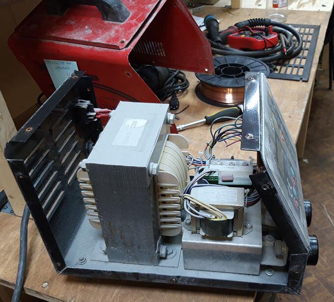 Разборка аппарата точечной сварки Topweld TW 9B