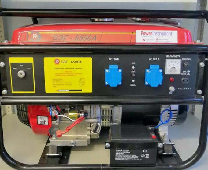 Бензиновый генератор Калибр БЭГ-6500 А