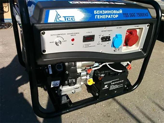 Выдача бензинового генератора ТСС SGG7500EH3