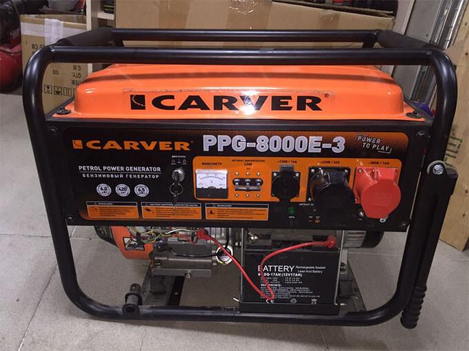 Бензогенератор Carver PPG8000E-3